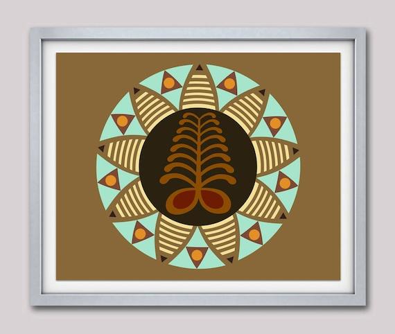 Adinkra symbols AYA, African Modern Art Design, African Symbols, African American wall decor, African Wall Hanging, African Wall Art