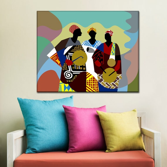 African Artwork, African Drum Painting, African Painting, African Decor, African Men, Traditional Art, Nigerian Art Painting