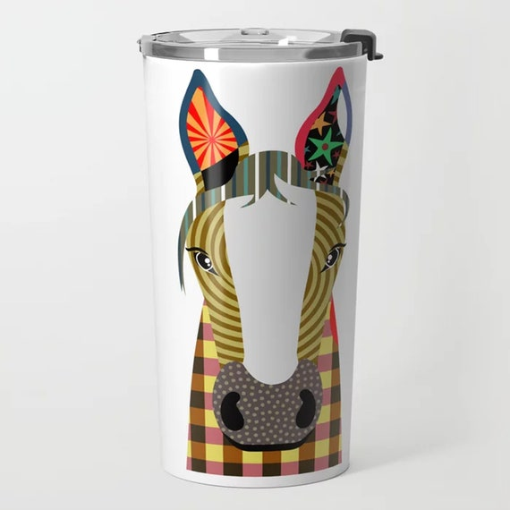 Horse Tumbler, Cute Animal Stainless Steel Cup