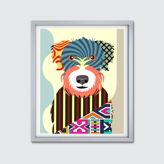 Wheaten Terrier Wall Art, Soft Coated Dog