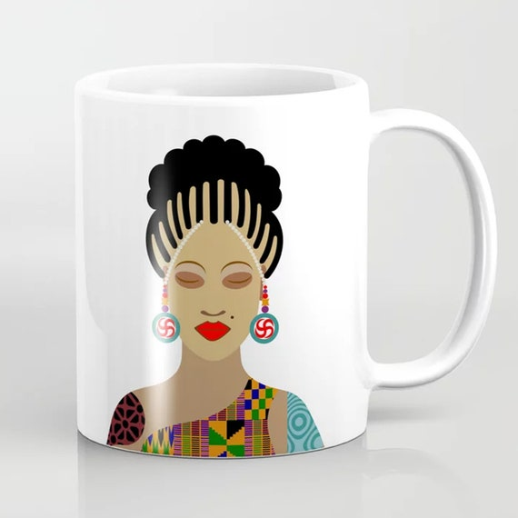 Black Girl Magic Mug, Natural Hair Art Cup