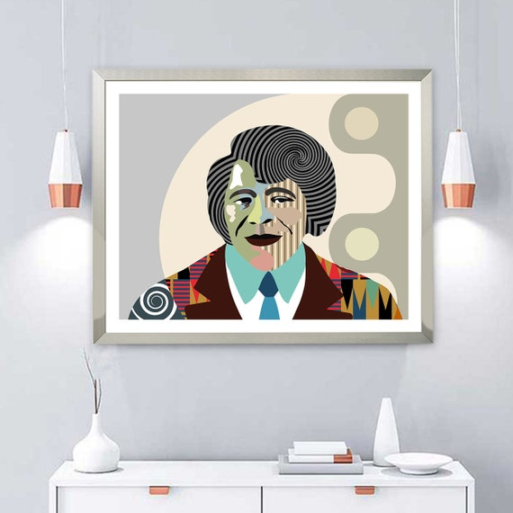 James Brown Wall Art, Funk Music, Celebrity Portrait Poster