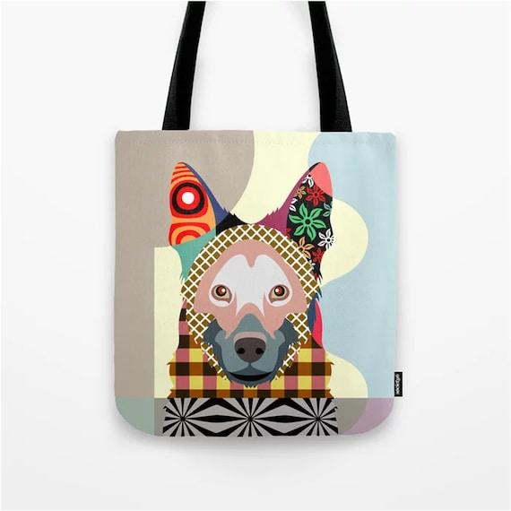 German Shepherd Bag, Dog Lover Gift Pet Print