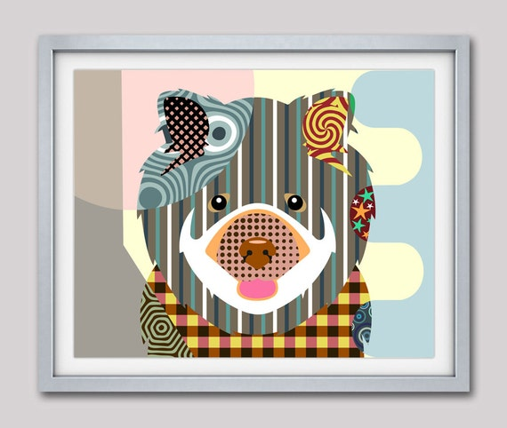 Chow Chow Dog Art Print Poster, Chow Chow Gift,  Chow Chow Chinese Dog Pet Portrait, Animal Art, Dog Painting, Dog Wall Art