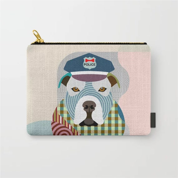 Pit Bull Pouch, Bully Dog Zipper Purse Wallet