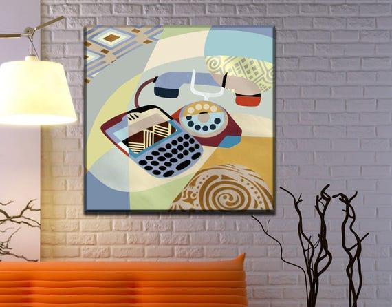 Telephone Art, Evolution Painting, Phone Art, Acrylic Painting Canvas Art, Acrylic Painting Original, Geometric Art Canvas, Original Art