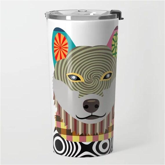 Shiba Inu Tumbler, Shibe Dog Insulated 20 oZ Stainless Steel