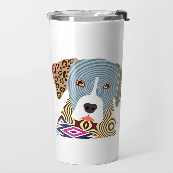 Catahoula Leopard, Dog Stainless Steel Metal Travel Mug