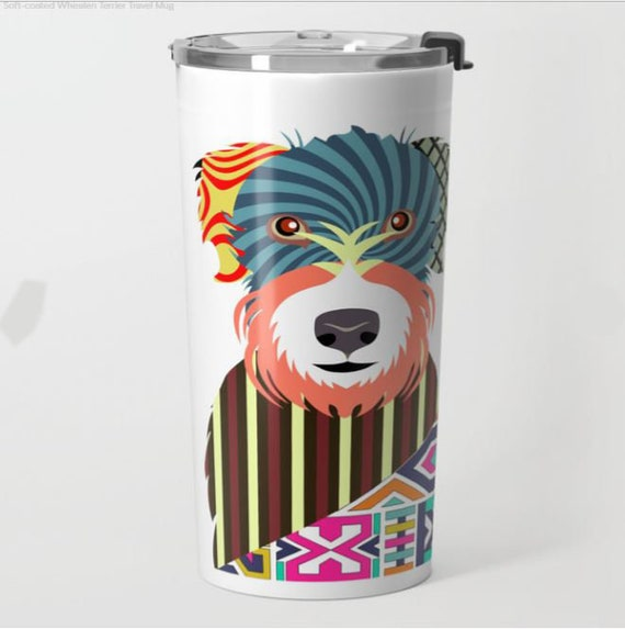 Wheaten Terrier Mug, Soft Coated Dog Cup