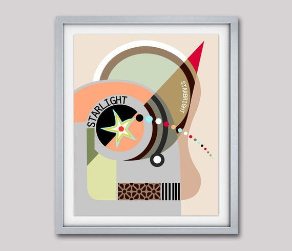 Bauhaus Poster, Abstract Art, Cubist Painting, Geometric Art Print, Minimalist Poster,  Cubism, Geometric Wall Art Decor