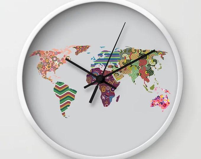 World Map Clock, Unique Wall Clock