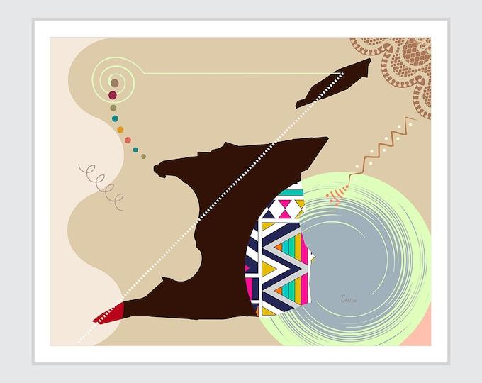 Trinidad and Tobago Art, Caribbean Poster Country Decor