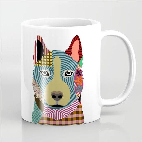 Siberian Husky Mug,  Chukcha Sibe Dog Ceramic