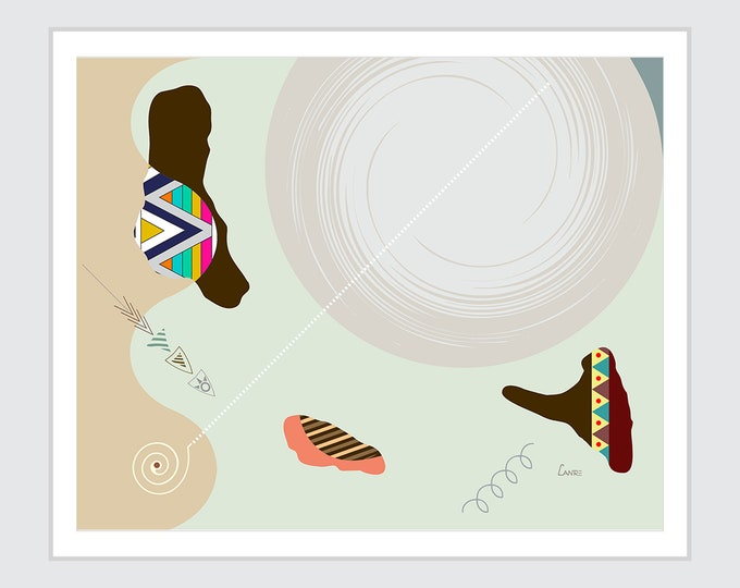 Comoro Islands Map, African Country Moroni Abstract Geometric Cubist Art Design