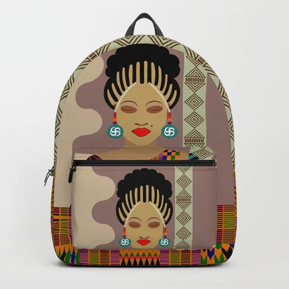Afrocentric Backpack, Black Girl Magic Gift