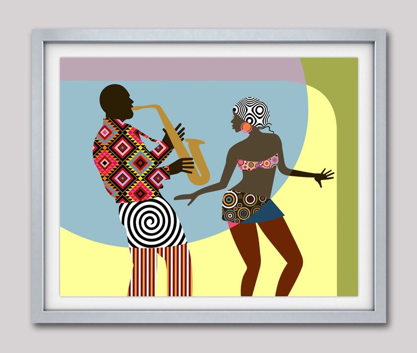 African American Wall Art African Painting African Decor Black