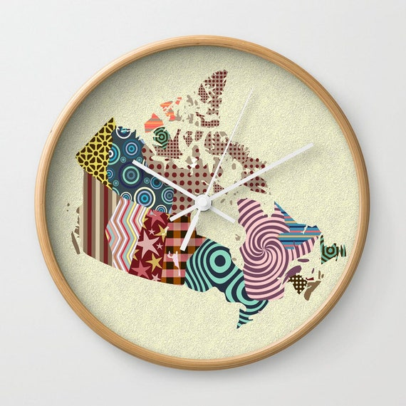 Canada Map Unique Wall Clock, Wall Clock Canada, Home Decor,  Canadian Shop, Canadian Seller, Canadian Gift