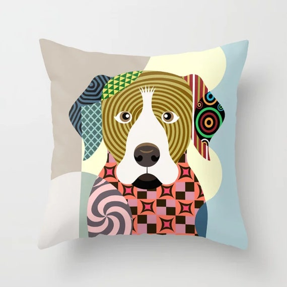 Rottweiler Pillow, Roti Rottie Dog Cushion Puppy Decor