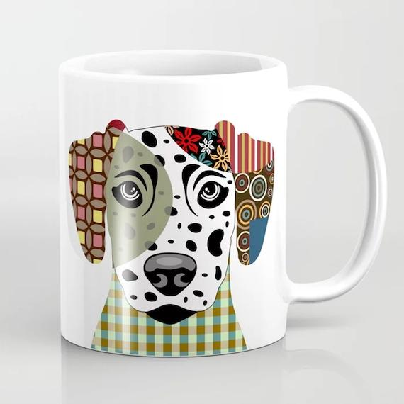 Dalmatian Mug, Dog Ceramic Cup Pet Doggy Gifts