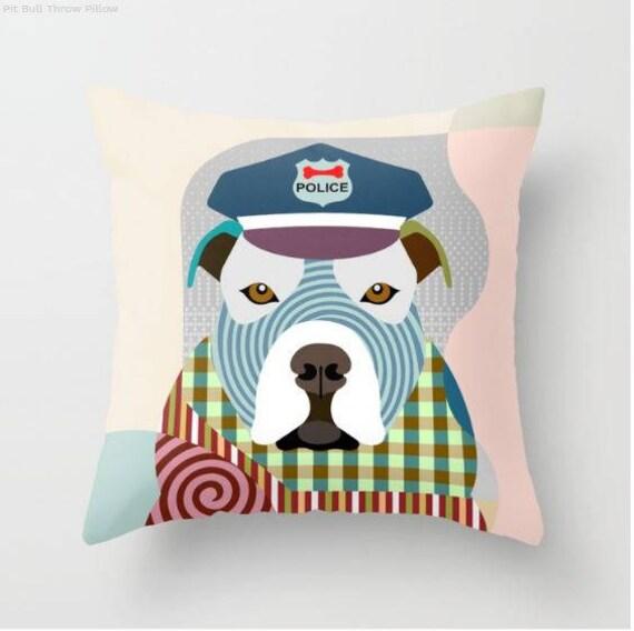 Pit Bull Pillow, Pit Bull Gift, Pit Bull Lovers Gifts, Pit Bull Print, Pit Bull Decor, Animal Pillow, Pet Gifts, Pet Pillow, Dog Lovers Gift