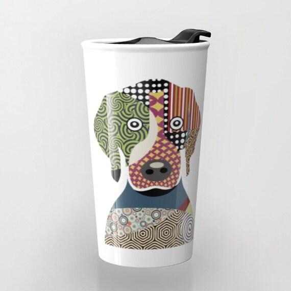 BeagleTravel Coffee Mug, Cute Dog Travel Mug,  Ceramic Mug, Pet Mug, Dog Lover Mug, Tea Mug, Dog Lover Gift, Travel Gift