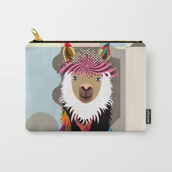 Llama Purse Print Bag, Animal Lovers Gift Art
