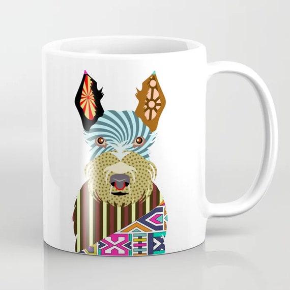 Scottie Mug, Scottish Terrier Dog Ceramic Coffee Cup