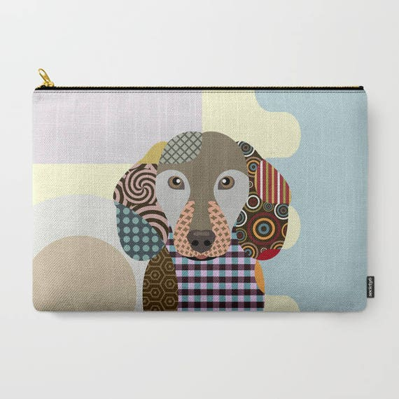 Dachshund Pouch, Dachshund Gifts, Dog Wallet, Pet Pouch, Pet Gifts,  Dog Pouch, Zipper Bag Purse,  Dog Zipper Pouch