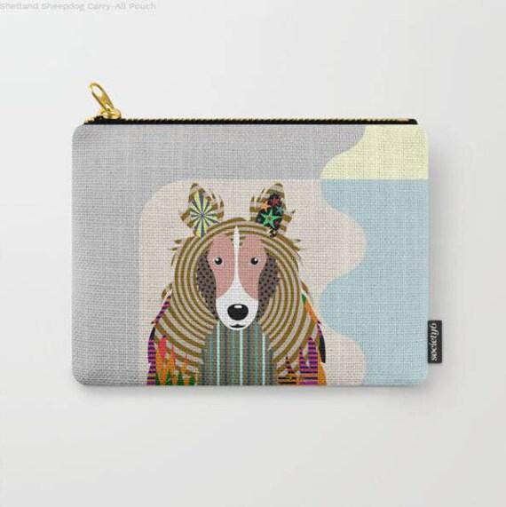 Sheltie Purse, Sheltie Pouch, Sheltie  Gifts, Sheltie Wallet, Pet Pouch, Pet Gifts,  Dog Pouch, Zipper Bag Purse, Dog Zipper Pouch