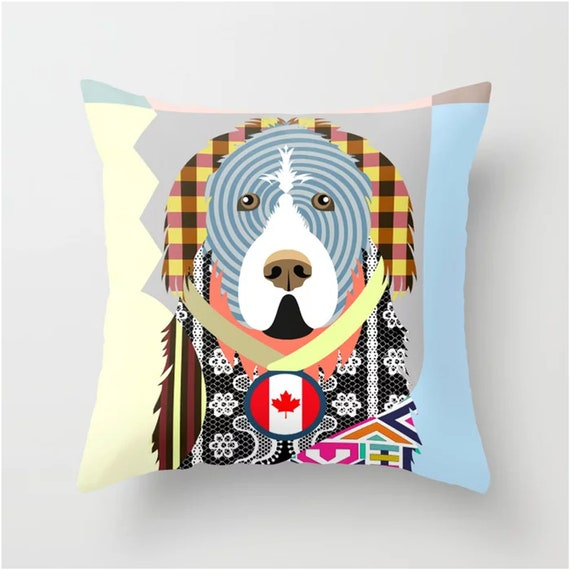 Newfoundland Pillow, Dog Cushion Pet Decor
