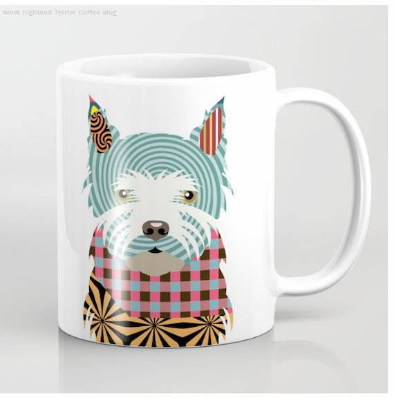 Westie Mug, Westie Gifts,  West Highland Terrier Mug Print, Westie Lovers Gift, Westy Gifts, Pet Gifts, Pet Mug, Dog Lover Mug