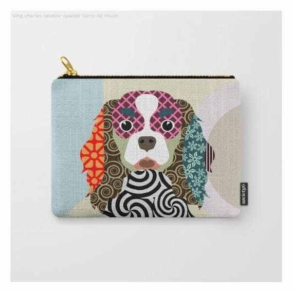 Cavalier King Pouch, Cavalier King charles Gifts, Dog Wallet, Pet Pouch, Pet Gifts,  Dog Pouch, Zipper Bag Purse,  Dog Zipper Pouch