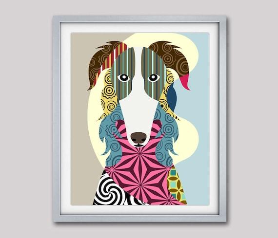 Borzoi Dog Art, Russian wolfhound, Dog Portrait, Dog Pop Art, Dog Breed Poster, Dog Breed Print, Colorful Dog Art, Dog Poster