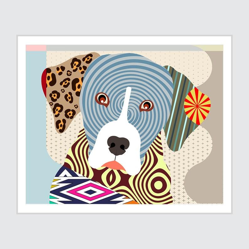 Louisiana Catahoula Leopard Dog Colorful Dog Poster image 0