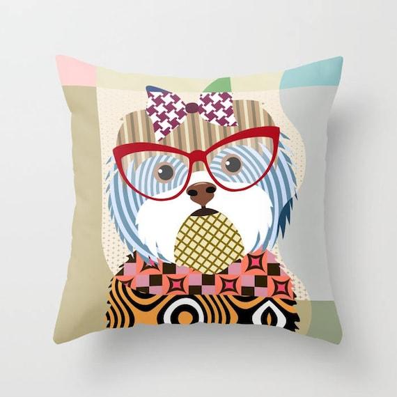 Shih Tzu Pillow, Shih Tzu Gift, Shih Tzu Lover Gifts, Shih Tzu Print, Animal Pillow, Pet Gifts, Pet Pillow, Dog Lover Gift, Shih Tzu Decor