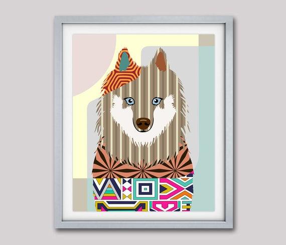 Samoyed Dog, Samoyed Art, Smiley, Sammy, Samoyed Print, Samoyed Gifts, Samoyed Accessories, Dog Pop Art, Dog Portrait, Dog Art Print