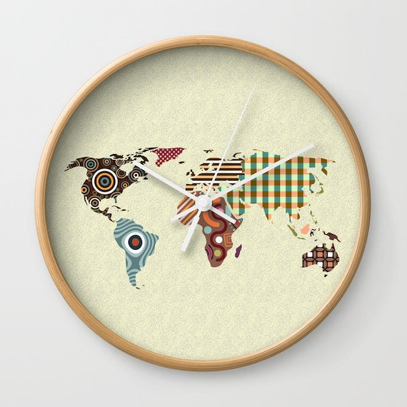 World Map Clock, Globe Clock Decor