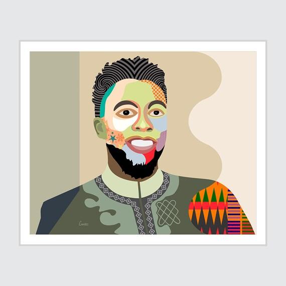 Chadwick Boseman Art, Black Panther Poster, Wakanda Forever