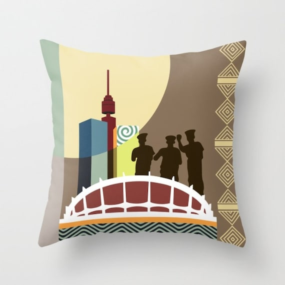 Lagos Nigeria Landmarks, Nigerian Pillow Decor