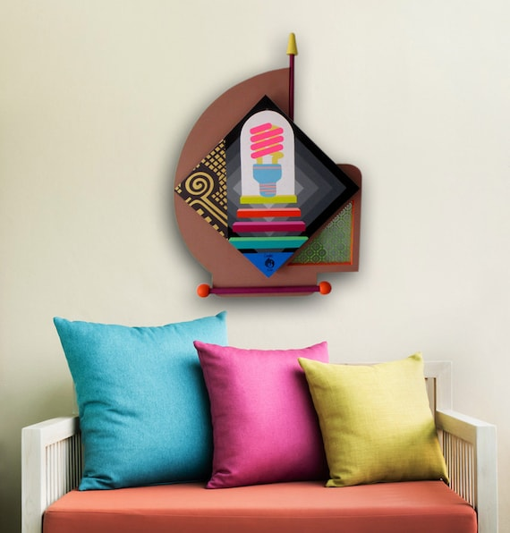 Motivational Wall Decor, Wooden Sculpture, Original Acrylic Painting,  Abstract Philosophical Painting on Wood, 3D Painting