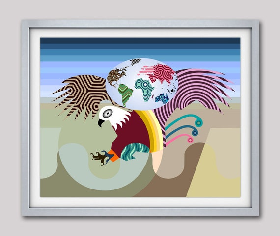 Eagle Print, Eagle Painting, Eagle Wall Hanging, Bald Eagle, Bird Art Painting, Bird Poster, Bird Lover Gift