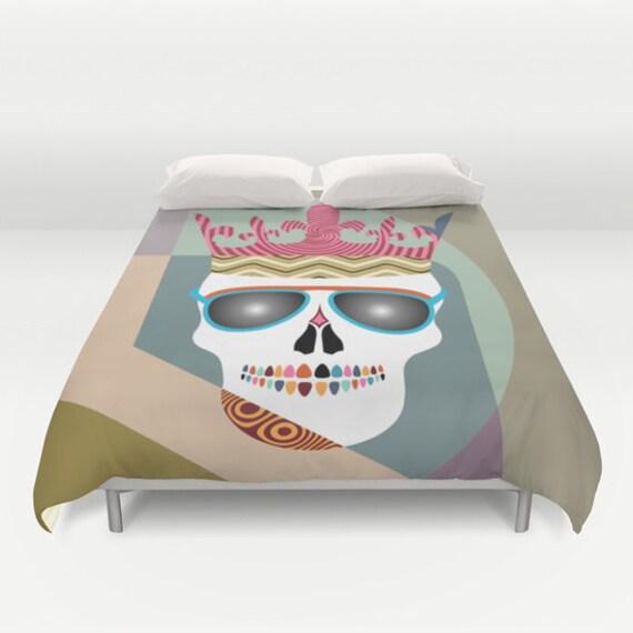 Skull Bedding, Skull Bed Sheet, Skull Bed Set, Skull Bedroom Decor,  Queen Duvet Cover, Full Duvet Cover, King Duvet Cover,