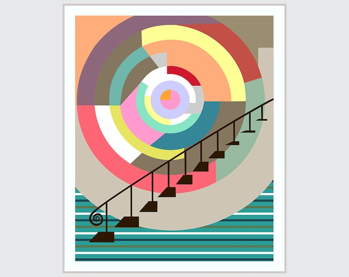 Stairway to Heaven Art, Abstract Geometric Decor