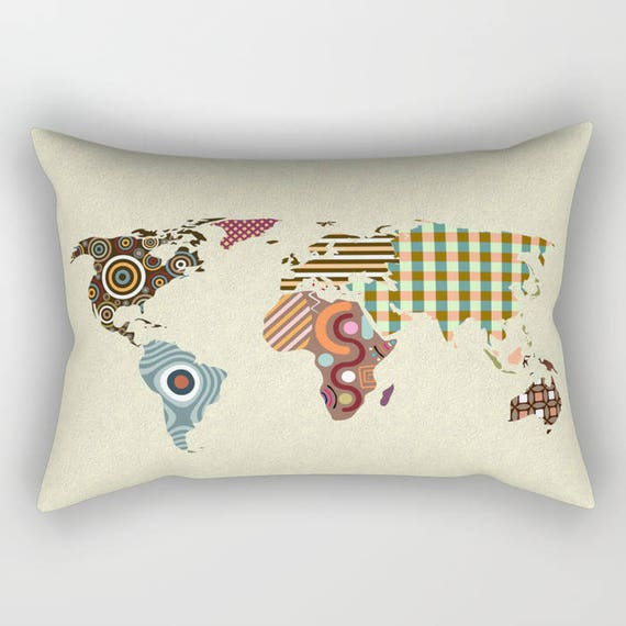 World Map Pillow, Globe Decor And Gifts