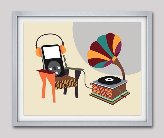 Home Decor, Wall Art Print, Living Room Art, Music Lover Gifts, Music Art, Music Decor, Music Poster, Office Decor