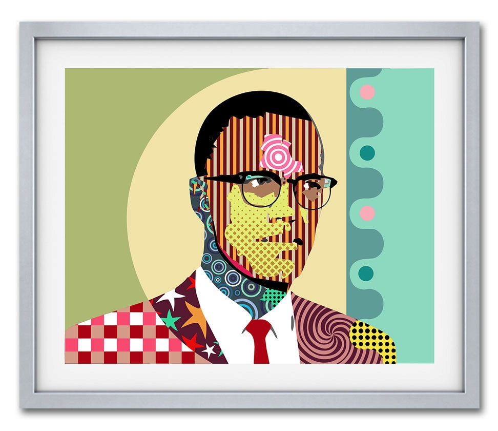 Malcolm X Wall Art, Malcolm X, African American Social Activist ...