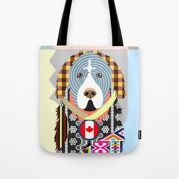 Newfoundland Tote, Newfoundland Bag, Newfoundland Gifts, Newfoundland Art Print, Dog Tote Bag, Dog Lover's Gift, Animal Lover Gift
