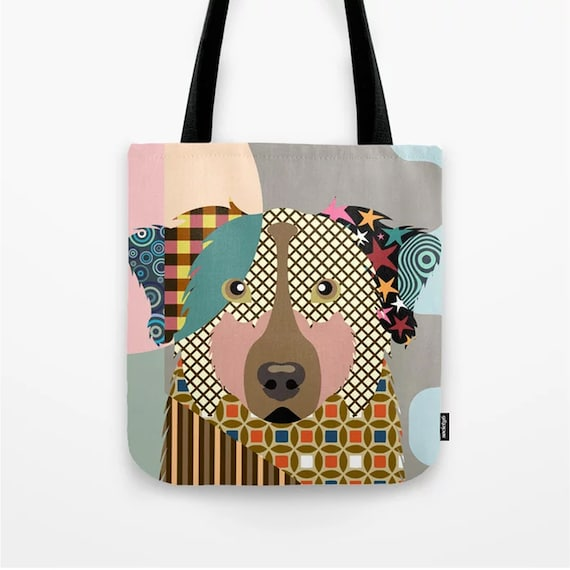 Australian Shepherd Tote Bag, Aussie Print Dog Lover's Gift