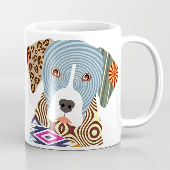 Catahoula Leopard Dog Mug Print, Pet Lovers Gift