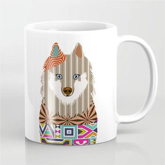 Samoyed Mug, Smiley Sammy Coffee Ceramic Cup